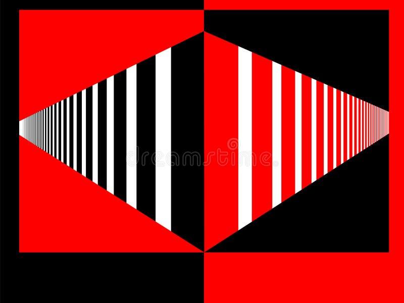 Perspektive rot und schwarz lizenzfreie stockfotos