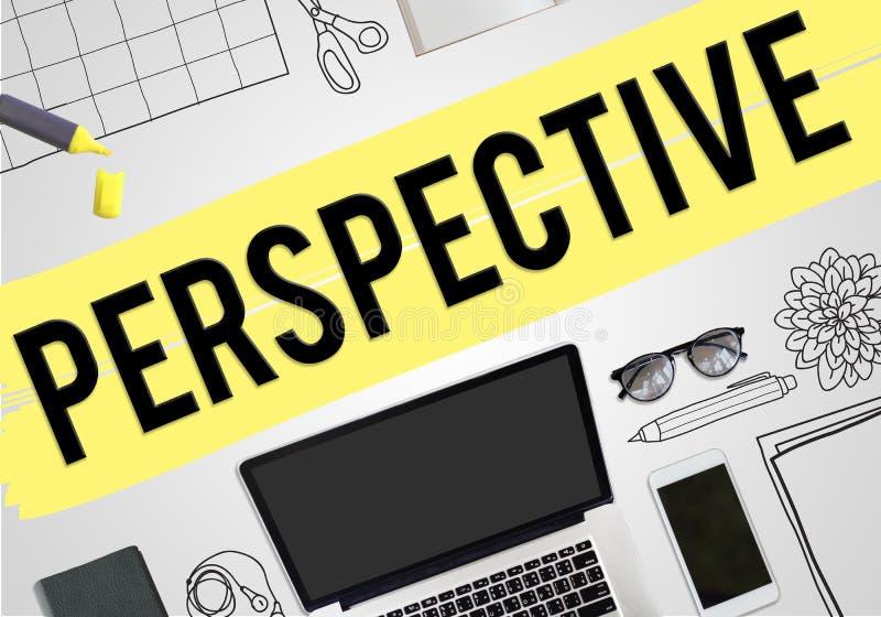 Perspektiven-Ansicht-Meinungs-Geschäfts-Konzept vektor abbildung