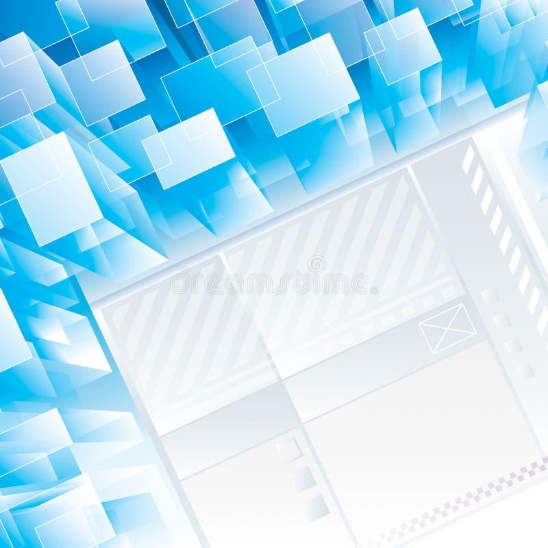Perspektiven-Technologie-Hintergrund lizenzfreie stockbilder
