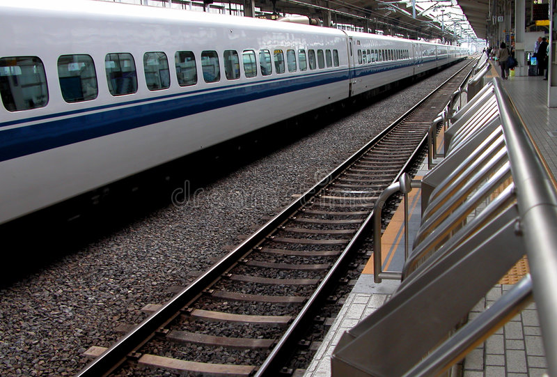 perspektivjärnvägstation royaltyfria foton