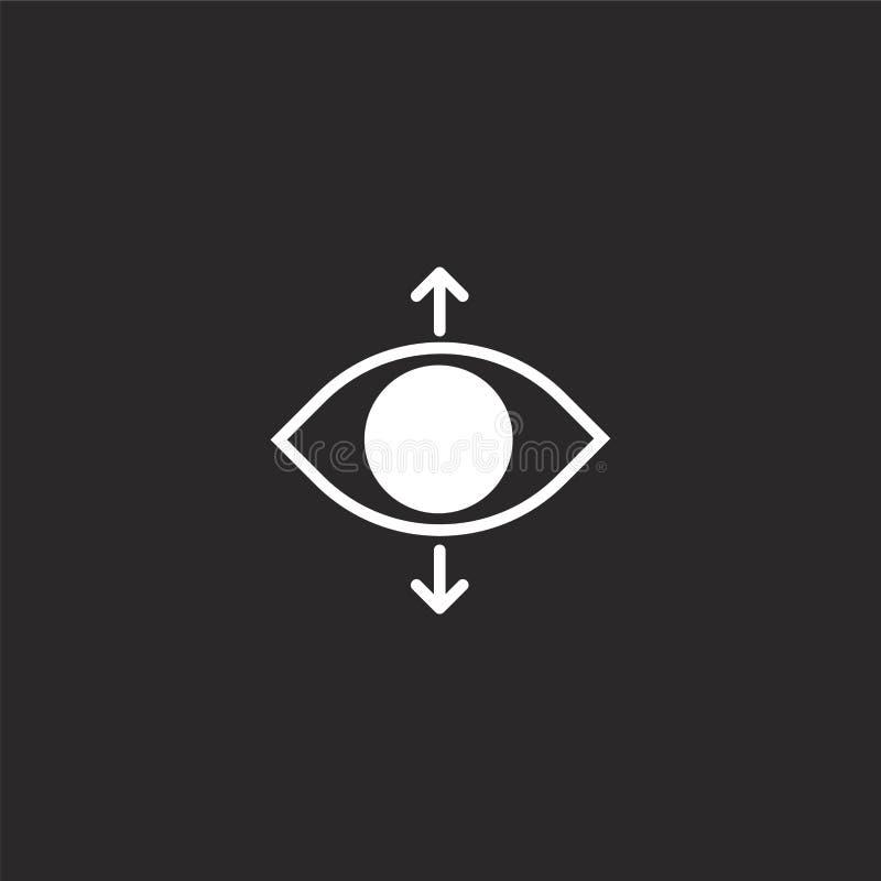 perspektivsymbol Fylld perspektivsymbol för websitedesignen och mobilen, apputveckling perspektivsymbol från fyllt nödvändigt vektor illustrationer