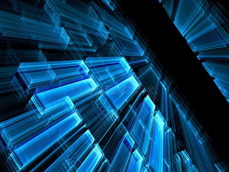 Perspektivteknologibakgrund - abstrakt begrepp som frambrings digitalt royaltyfri illustrationer
