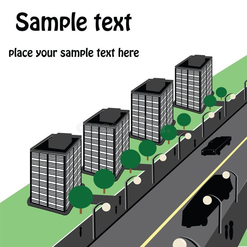 perspektywa miastowa ilustracja wektor