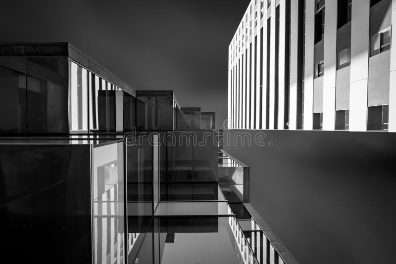 Perspektywicznego widoku budynek zdjęcie stock