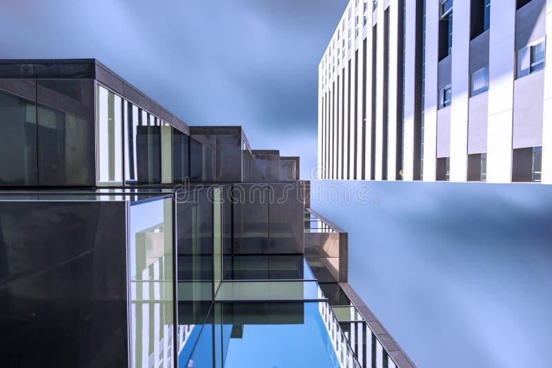 Perspektywicznego widoku budynek fotografia royalty free