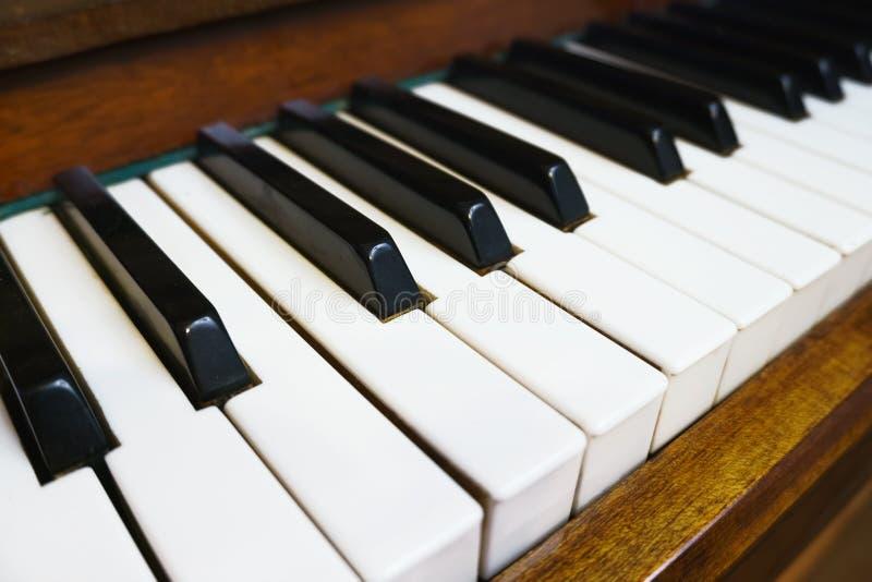Perspektywiczny kąt pianino klucz fotografia royalty free