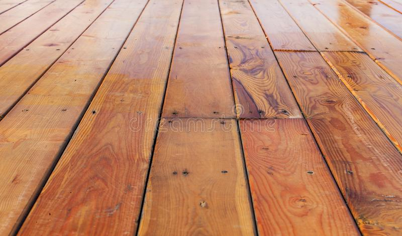Perspektywiczny kąta widoku dębowego drewna stary tło obrazy royalty free