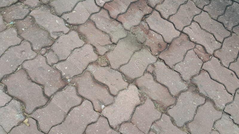 Perspektywiczny widok Kolorowa cegła kamienia ulicy droga fotografia royalty free