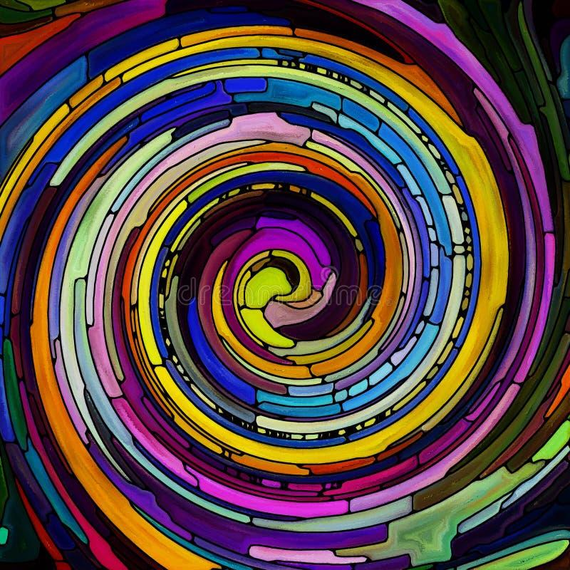 Perspektywy ?limakowaty kolor ilustracji