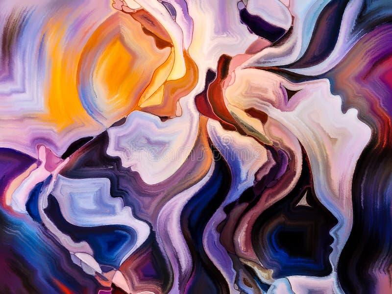 Perspektywy Wewnętrzna farba ilustracja wektor