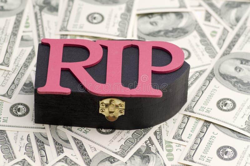 Perte d'image financière de concept de difficultés d'argent images libres de droits