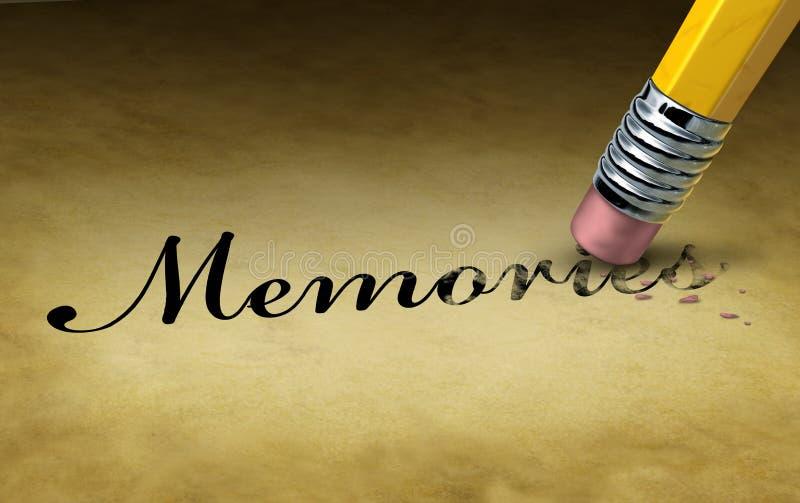 Perte de mémoire illustration de vecteur