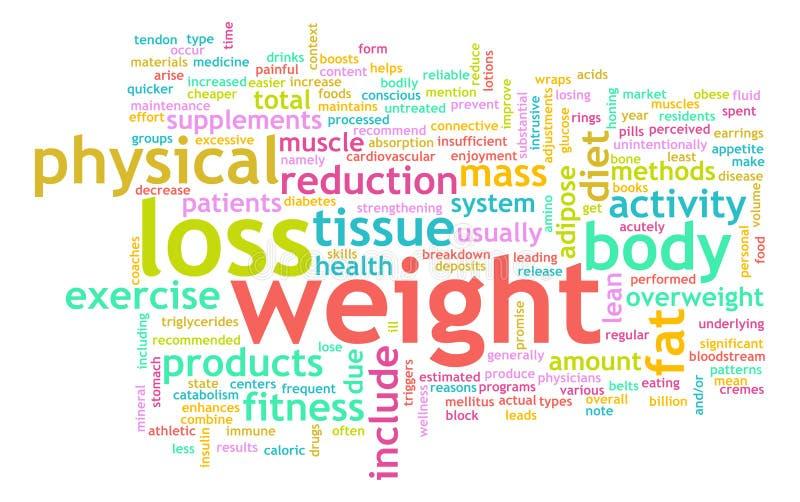 Perte de poids illustration stock