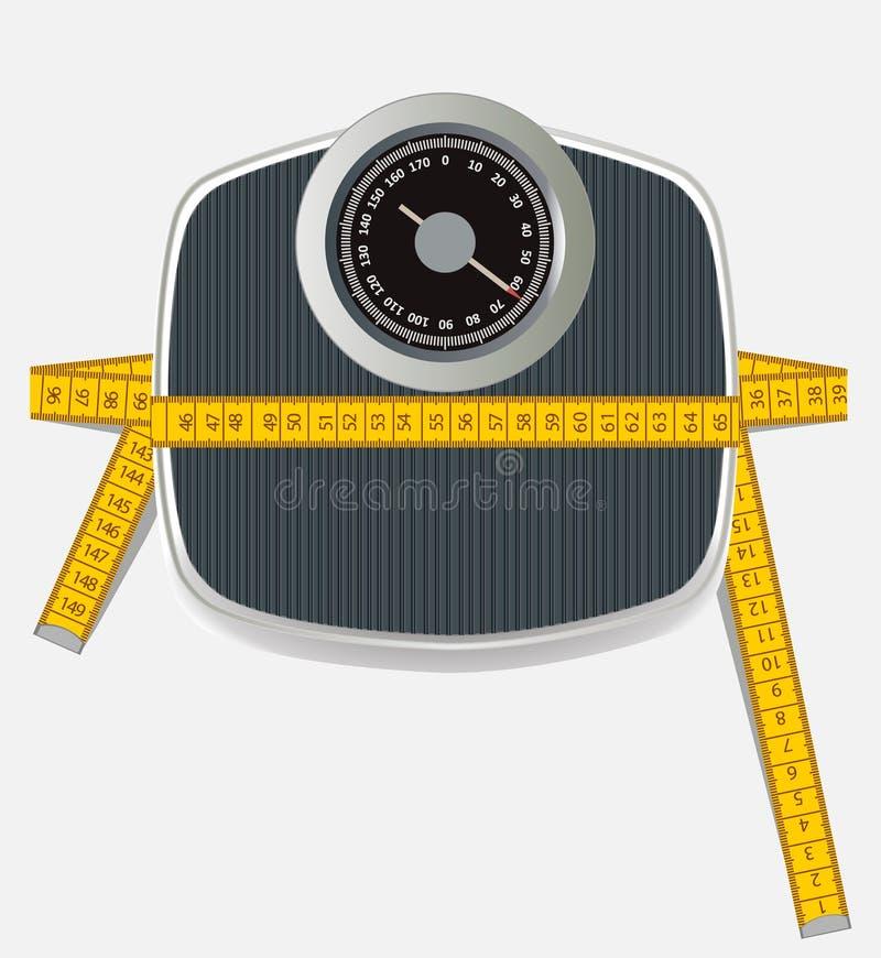Perte de poids illustration de vecteur