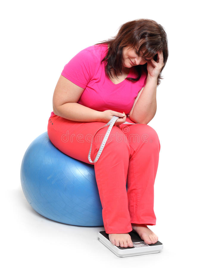 Perte de poids. images libres de droits