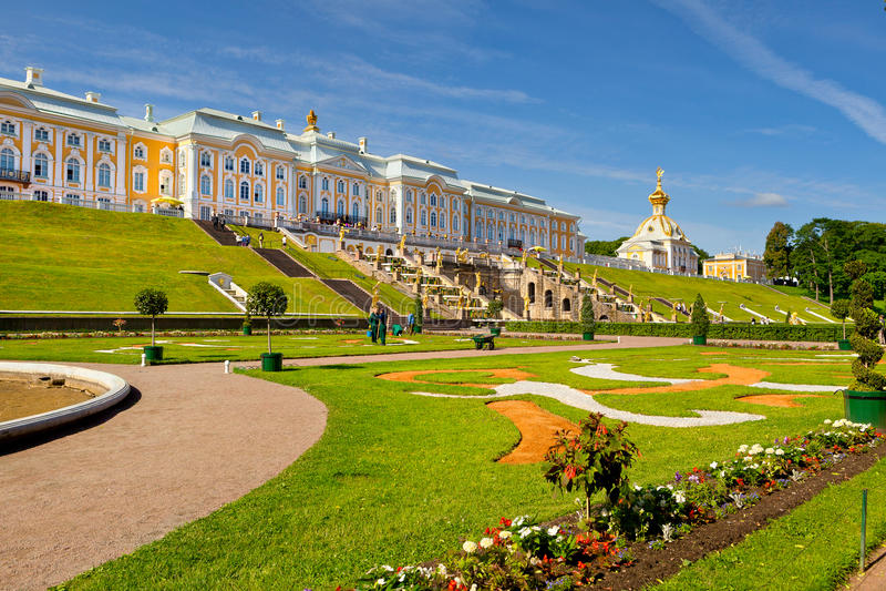 Pertergof, Άγιος-Πετρούπολη, Ρωσία στοκ εικόνα