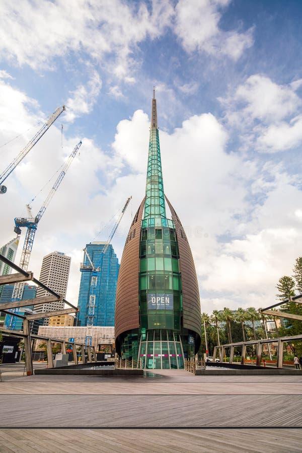 Perth łabędzi dzwonkowy wierza obraz stock