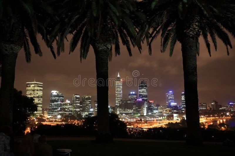 Perth alla notte, Australia occidentale immagine stock