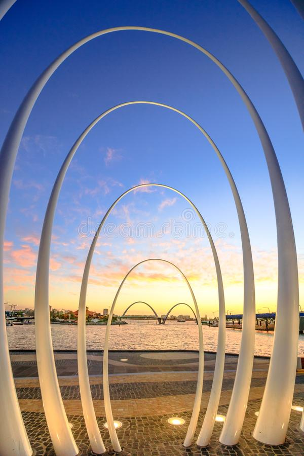 Spanda Sculpture in Perth stock photography