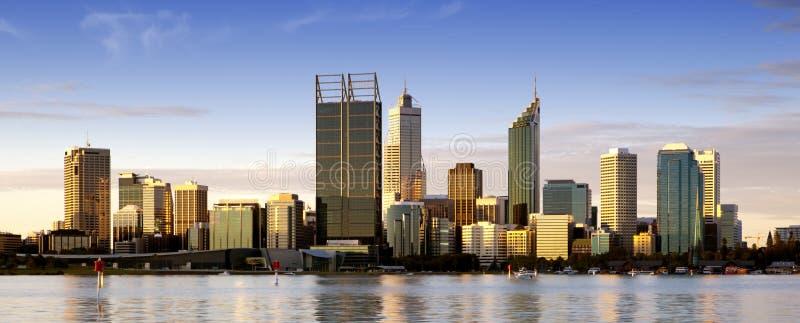 Perth bij Schemer stock foto