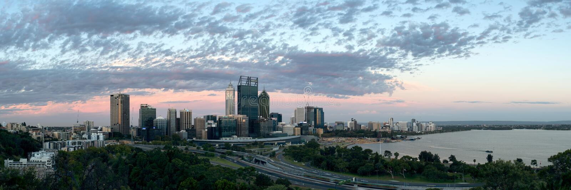 Perth CBD stockfotos