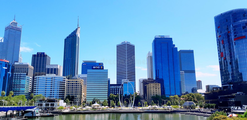 Perth CBD - Australia occidental fotografía de archivo