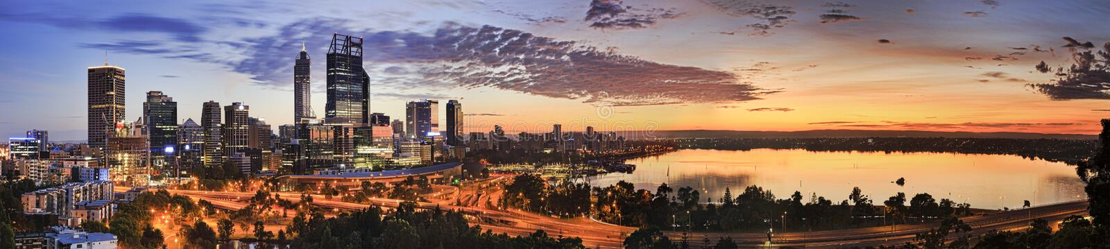 PERTH CBD Kings Orange Rise stock image