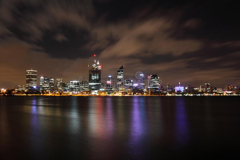Perth City at Night stock photography