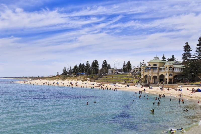 Perth Cottesloe beach pavilion day stock photos