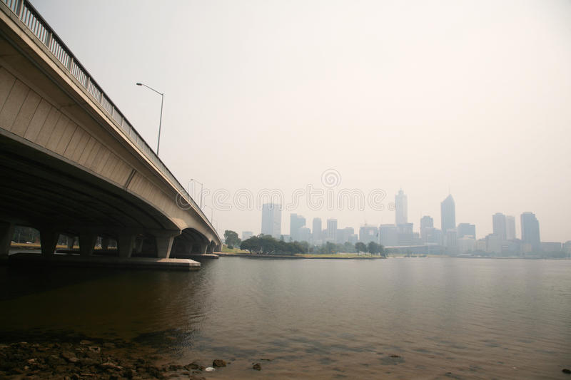 Perth covered in haze on 15 Dec 2009