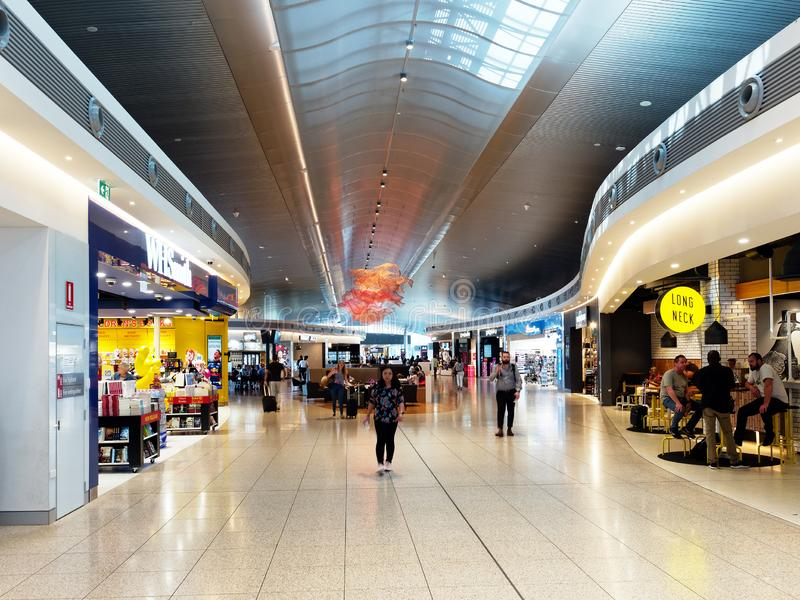 Perth  Domestic Airport,  Australia. High  roofed  open  interior at Perth Domestic Airport,  Western Australia royalty free stock image