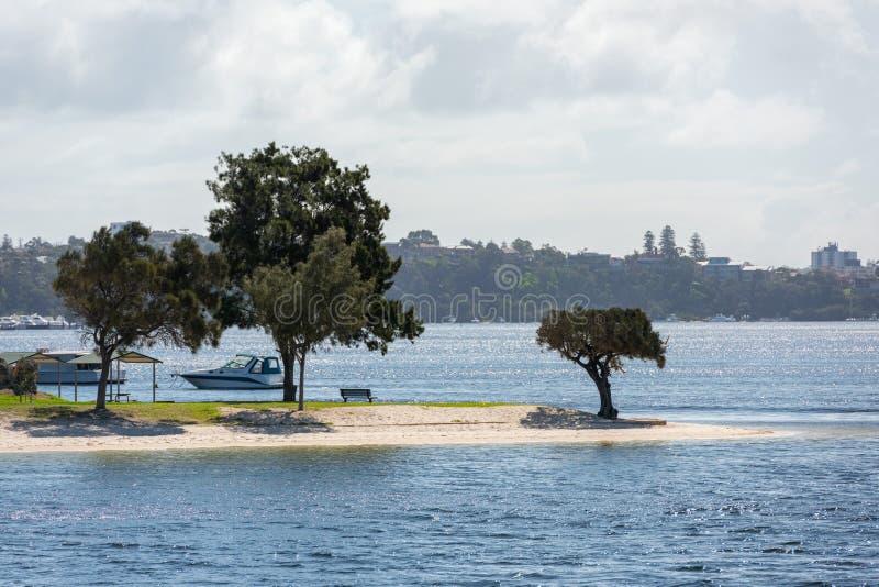 Perth fjärdfremantle vid havshusen royaltyfri bild