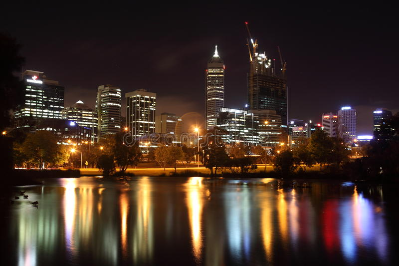 Perth at Night royalty free stock images