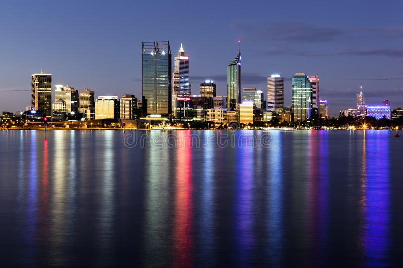 Perth By Night Royalty Free Stock Photos