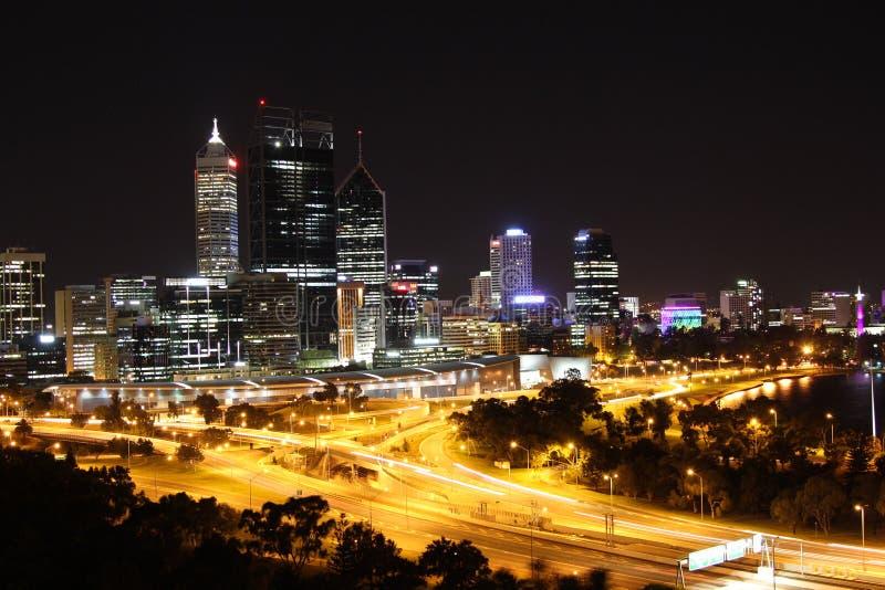 Perth at night stock image