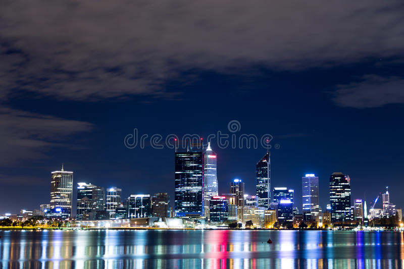 Perth Skyline Pt. 2. Perth Skyline Photo, taken from across the Swan River, Overlooking the CBD royalty free stock photo
