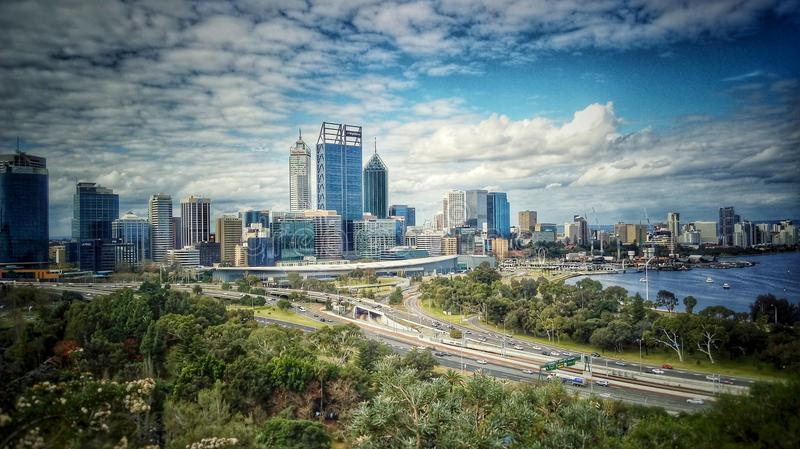 Perth-Stadt stockfotos