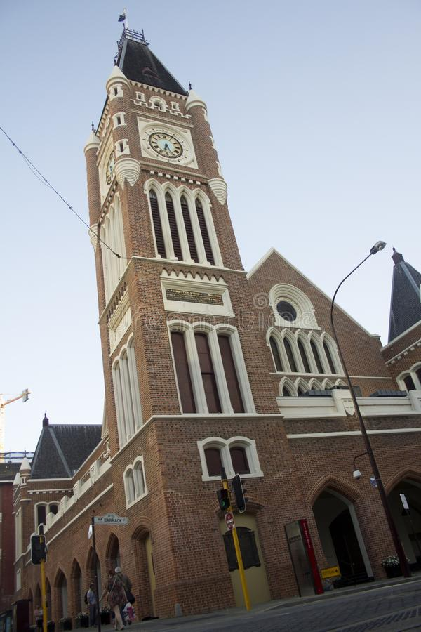 Perth urząd miasta buduje Perth Australia zdjęcie royalty free