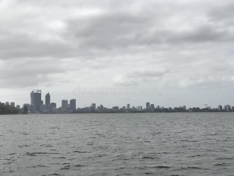 Perth vom Wasser stockbild