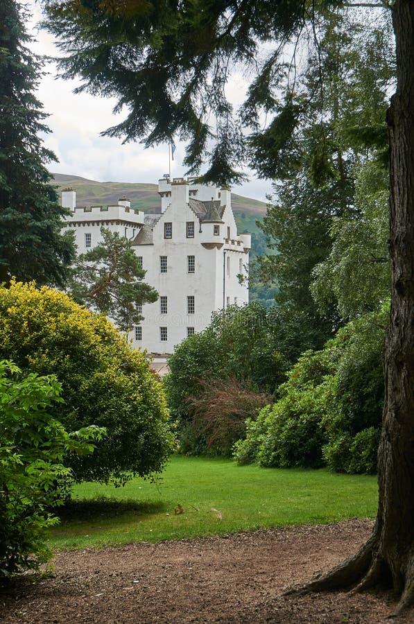 Perthshire, Großbritannien - 20. August 2016: Blair Atholl Castle in Perthsire, ehemaliger Wohnsitz von Herzog von Atholl lizenzfreies stockbild