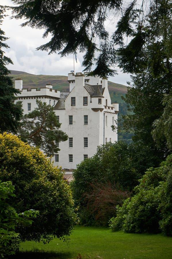 Perthshire, Großbritannien - 20. August 2016: Blair Atholl Castle in Perthsire, ehemaliger Wohnsitz von Herzog von Atholl lizenzfreie stockfotografie