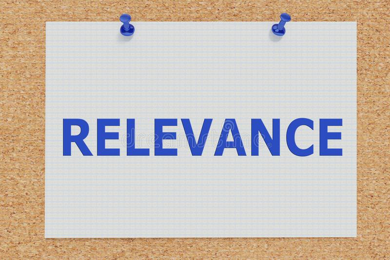 PERTINENCE - concept informationnel illustration libre de droits