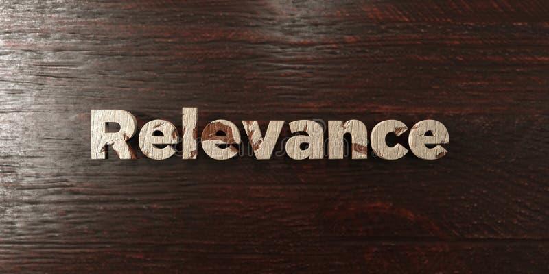 Pertinence - titre en bois sale sur l'érable - image courante gratuite de redevance rendue par 3D illustration libre de droits