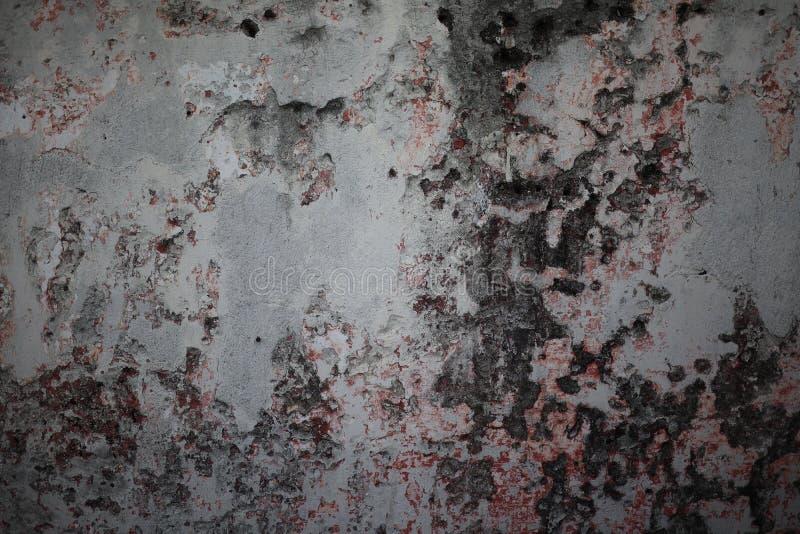 Perto acima, espaço vazio, parede velha do cimento, deterioração para o fundo abstrato imagens de stock royalty free