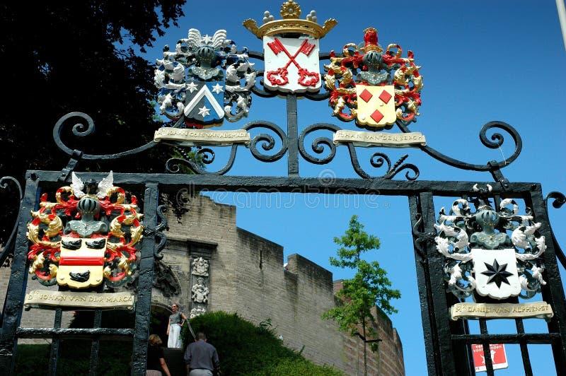 Perto da citadela de Leiden imagens de stock