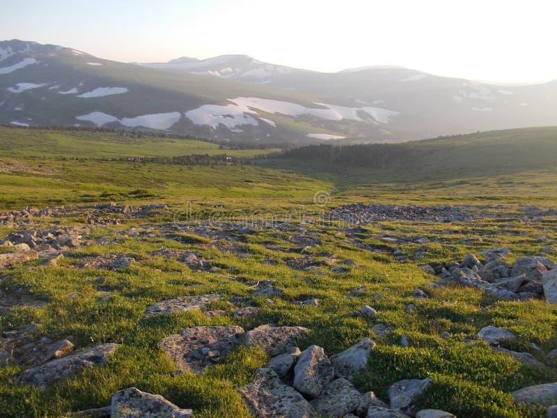 Perto da montanha de Korolevsky Belok imagens de stock