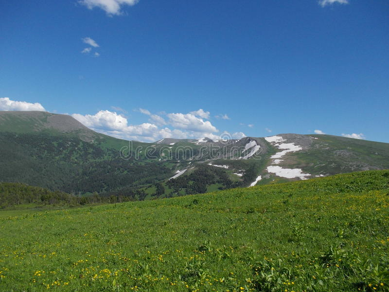 Perto da montanha de Korolevsky Belok foto de stock royalty free