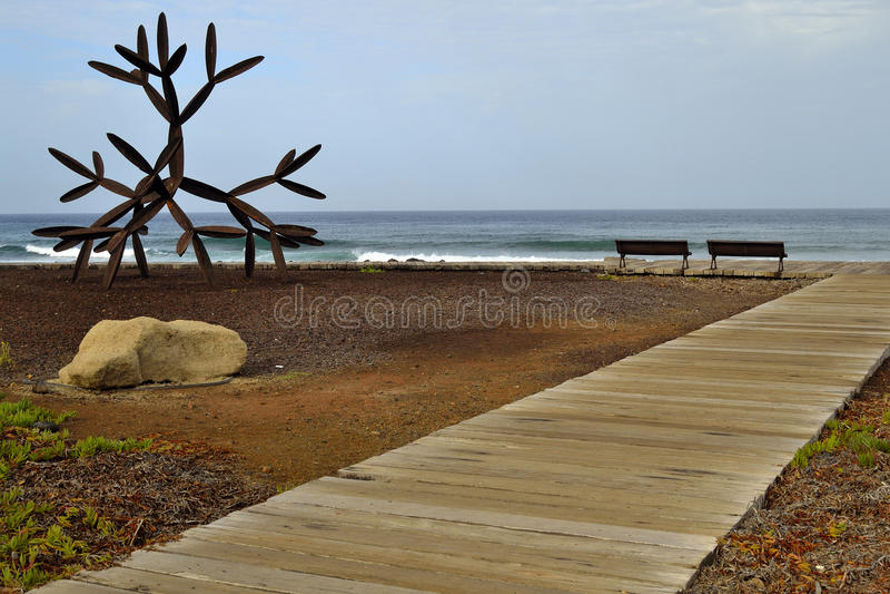 Perto da praia do Los Christianos foto de stock royalty free