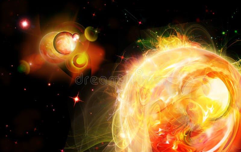Download Perto de um sol ilustração stock. Ilustração de elevado - 12806793