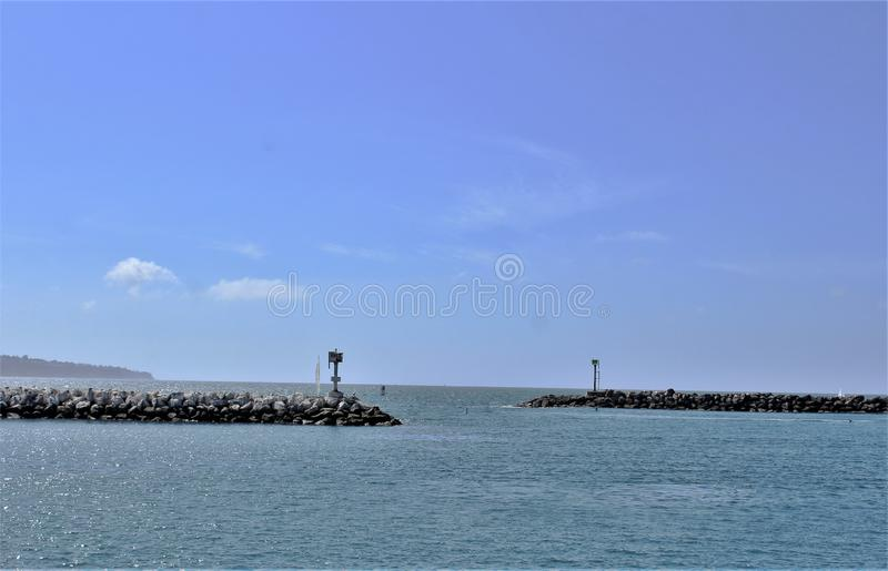 Perto do oceano de Portifino Califórnia em Redondo Beach, Califórnia, Estados Unidos fotos de stock
